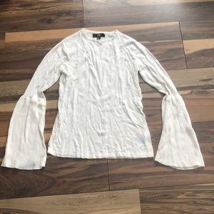 Cream bell sleeve sweater